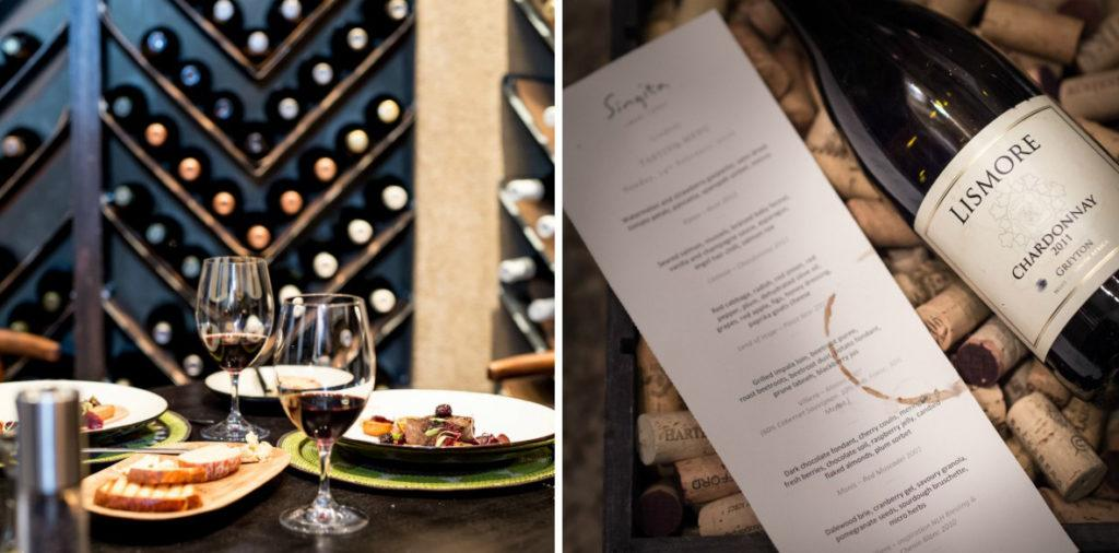Cellar dinner at Singita Sweni Lodge